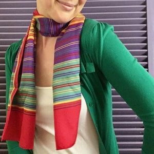 JUST IN! Vintage Rainbow Striped Oblong Scarf